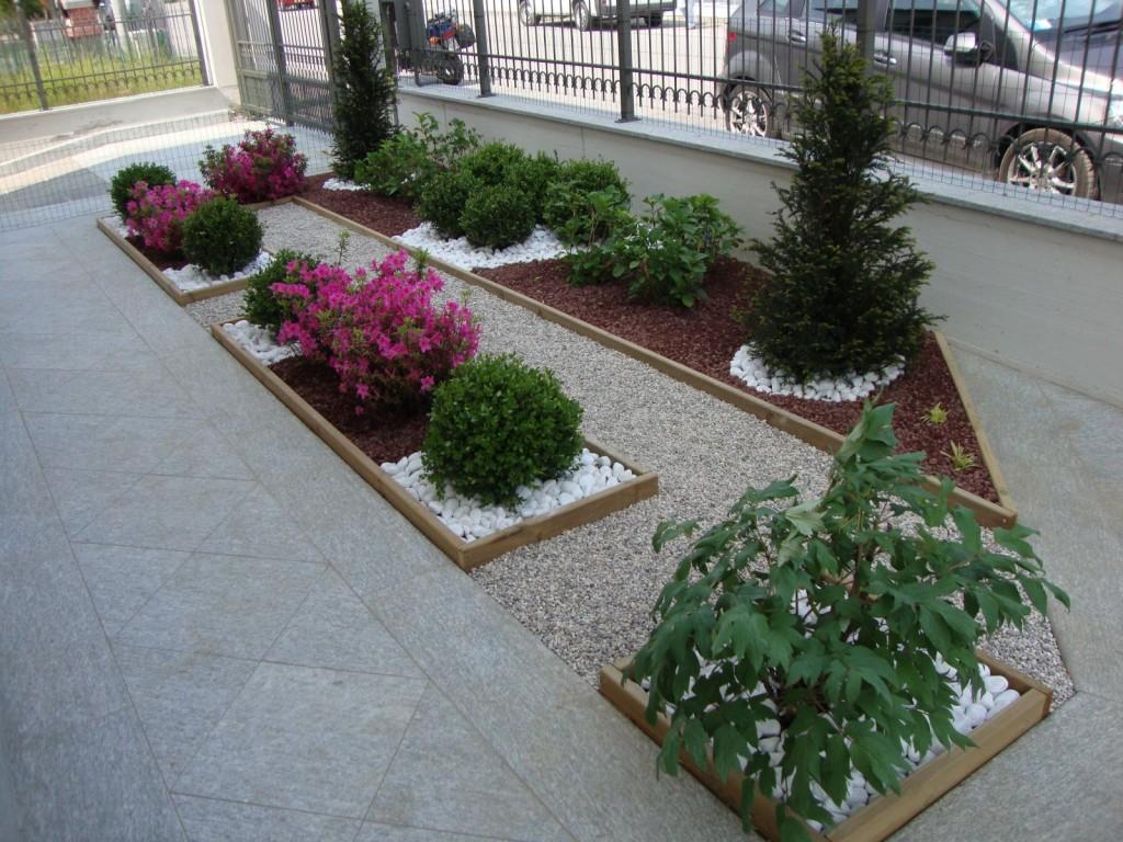 Beautiful aiuole in citt with foto aiuole for Aiuole giardino con sassi
